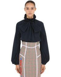 Stella Jean - Camisa De Nylon Tech Con Lazo - Lyst