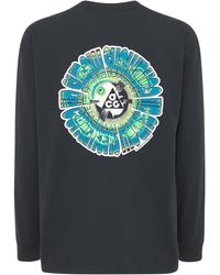 "Nike T-shirt À Manches Longues ""circle"" - Noir"