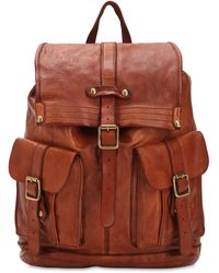 Campomaggi Studded Leather Backpack - Brown