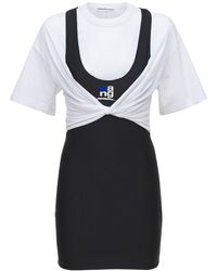 Alexander Wang T-shirt Hybrid ミニドレス - マルチカラー