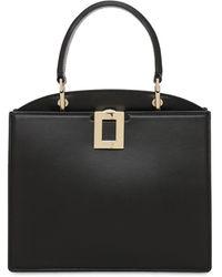 Roger Vivier Mini So Vivier Leather Top Handle Bag - Black