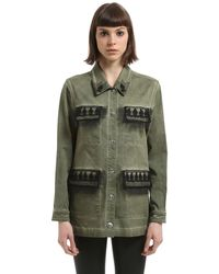 John Richmond Washed Cotton Jacket - グリーン