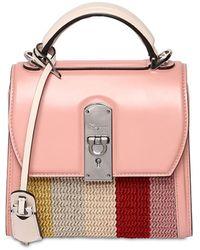 """Ferragamo Handtasche Aus Leder """"boxyz"""" - Pink"""