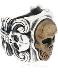 Cantini Mc Firenze - Liberty Vintage Skull Ring - Lyst