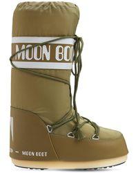 Moon Boot Сапоги Из Нейлона Icon - Зеленый