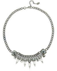 Halo - Chain Necklace W/ Swarovski Crystals - Lyst