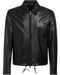 Valentino Куртка Из Кожи - Черный