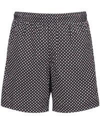 Alexander McQueen Skull Nylon Swim Shorts - Black