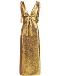 Paco Rabanne Платье Из Джерси С Пайетками - Металлик
