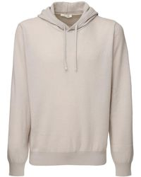 The Row Chris Hooded Cashmere Knit Jumper - Natural