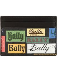 Bally - Printed Coated Leather Card Holder - Lyst