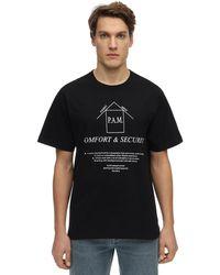 P.a.m. Perks And Mini Acab Cotton T-shirt - Black