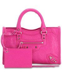 """Balenciaga Ledertasche """"nano City"""" - Pink"""