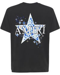 Amiri Paisley Star コットンジャージーtシャツ - ブラック