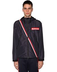 Moncler Stripe Detail Sports Jacket - Blue