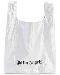 Palm Angels メタリックナイロントートバッグ