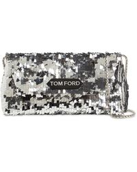 Tom Ford Сумка Label Small С Пайетками - Металлик