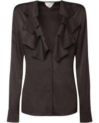 Bottega Veneta - Рубашка С V-образным Вырезом - Lyst