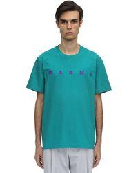 Marni - コットンジャージーtシャツ - Lyst
