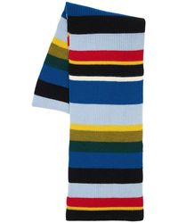 Loewe Striped Wool Knit Scarf - Multicolour