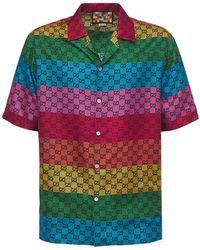 Gucci Gg Multicolor シルクツイルシャツ - マルチカラー