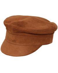 Ruslan Baginskiy Baker Boy カーフスエード帽 - ブラウン