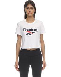 Reebok コットンtシャツ - ホワイト