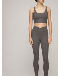 Year Of Ours Veronica High Waist Ribbed leggings - Grey