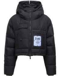 McQ Foam ナイロンクロップドパファージャケット - ブラック