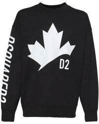 DSquared² オーバーサイズコットンジャージースウェットシャツ - ブラック