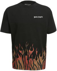 Palm Angels T-Shirt Tiger Flames - Schwarz