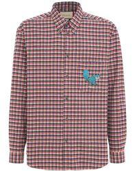 Gucci Рубашка С Вышивкой Freya Hartas - Красный