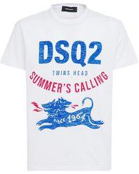 DSquared² Футболка Из Хлопкового Джерси Dsq2 - Белый