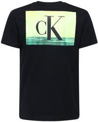 Calvin Klein Logo Print Cotton T-shirt - Black