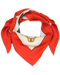 Gucci - Frame Print Silk Ribbon Scarf - Lyst