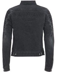 Balmain - Куртка Из Денима С Логотипом - Lyst