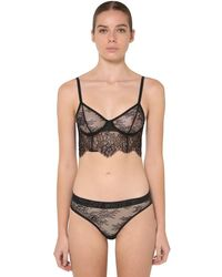 Off-White c/o Virgil Abloh Soft Lace Lingerie Set - Black