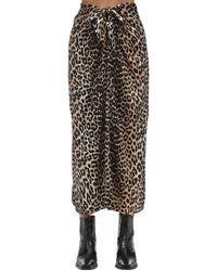 Ganni Printed silk skirt - Mehrfarbig