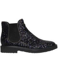 Giuseppe Zanotti - Glittered Chelsea Boots With Zipper Trim - Lyst