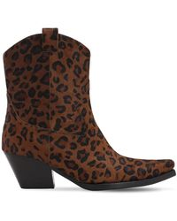 Jeffrey Campbell 70mm Ponyskin Leather Boots - Brown