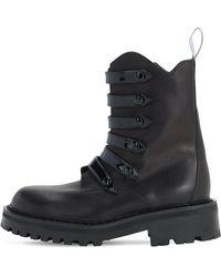 Moschino Кожаные Ботинки-комбат 50mm - Черный