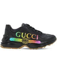 Gucci Zapatillas Rhyton - Negro