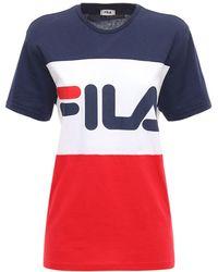 Fila T-shirt Aus Baumwolljersey Mit Logodruck - Mehrfarbig