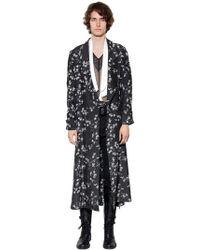 Ann Demeulemeester   Extra Long Printed Viscose Kimono Coat   Lyst
