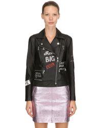 Karl Lagerfeld - Handmade Graffiti Leather Biker Jacket - Lyst