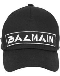 Balmain Бейсбольная Кепка С Вышивкой - Черный