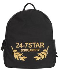 DSquared² - Logo Embroidered Canvas Backpack - Lyst