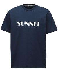 Sunnei コットンtシャツ - ブルー