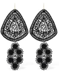 Stella McCartney Lvr Sustainable Cotton Thread Earrings - Black