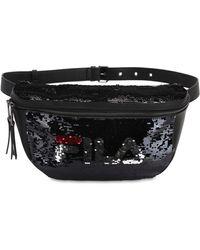 Fila スパンコールベルトバッグ - ブラック